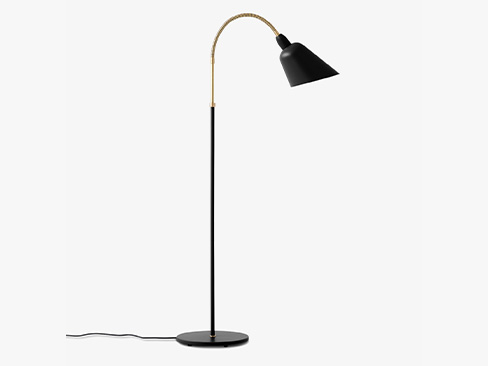 AJ7 Bellevue lampe i sort og messing