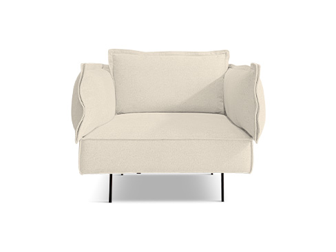 Modular 1-seater i Soho chalk