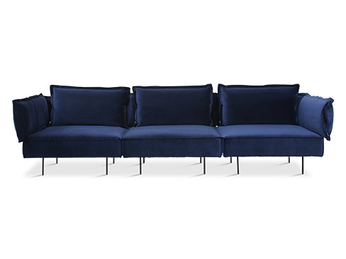 Handvärk Modular Sofa 3 seater Velvet royal blue