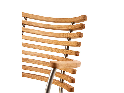 Tiger Chair i eg olie - stål stel
