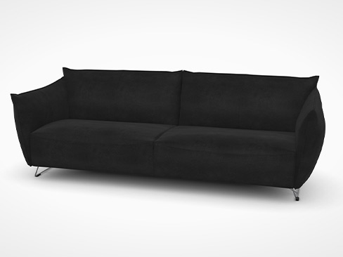 My Home sofa fra Jess Design i sort læder