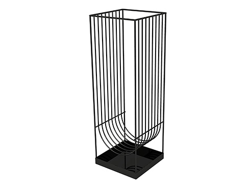 Curva Umbrella stand i sort