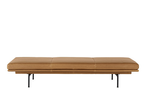 Outline Daybed i cognac