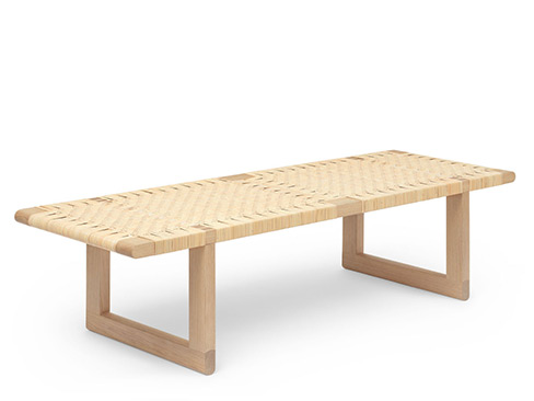 BM0488 Table Bench i eg med flet