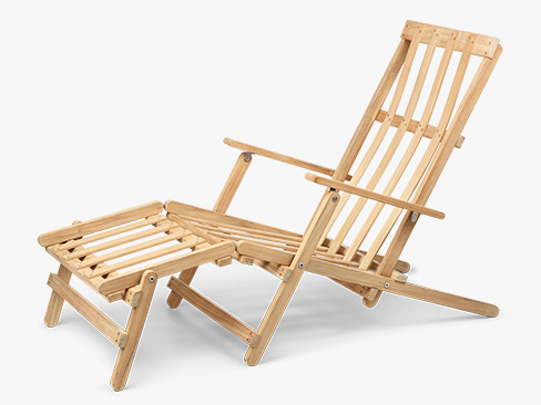 BM5565 Børge Mogensen Deck Chair with footrest