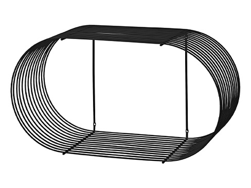 Curva shelf large black