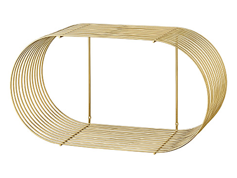 Curva shelf large gold