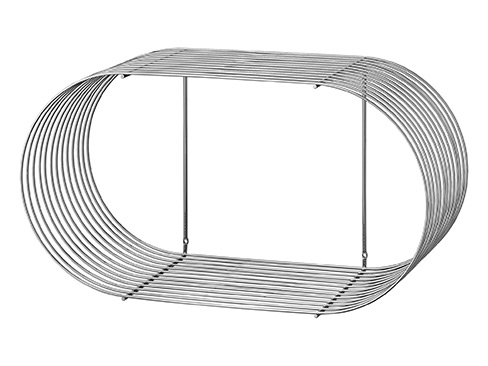 Curva shelf large silver